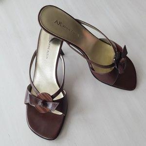 Anne Klein Chocolate Sandal